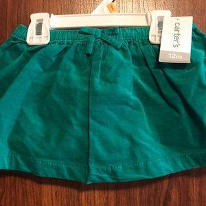 NWT Carter's 12mo skirt
